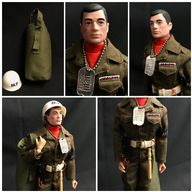 VINTAGE ACTION MAN - HARD PAINTED HEAD - US MILITARY POLICE M.P
